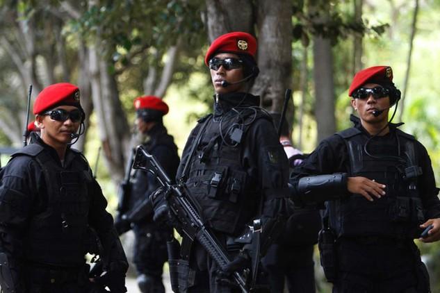 Lực lượng đặc nhiệm Indonesia (Ảnh: Reuters)