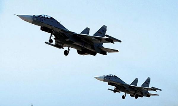 Chiến đấu cơ Su-30 của không quân Trung Quốc. Ảnh:PLA