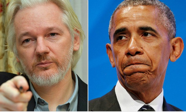 Julian Assange, ông chủ của WikiLeaks (trái) và Tổng thống Mỹ Obama. Ảnh:RT