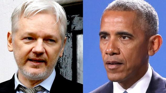 Nhà sáng lập Wikileaks Julian Assange (trái) và Tổng thống Mỹ Barack Obama (Ảnh: Truth Division)