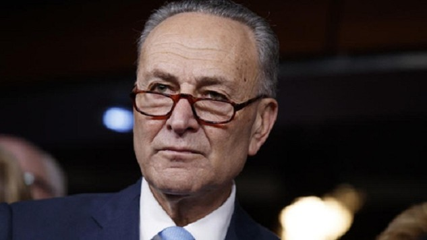 Ông Chuck Schumer, lãnh đạo phe thiểu số ở Thượng viện Mỹ. Ảnh:AP