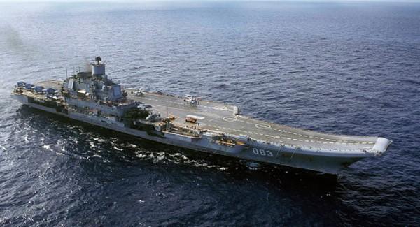 Tàu sân bay Đô đốc Kuznetsov. Ảnh:AP.