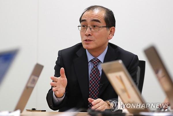 Thae Yong-ho, nhà ngoại giao cấp cao của Triều Tiên từng làm việc khoảng 10 năm ở Anh trước khi đào tẩu sang Hàn Quốc cùng gia đình. Ảnh:Yonhap