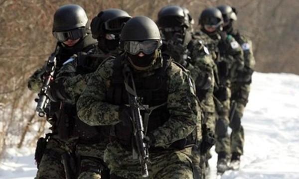 Các thành viên trong lực lượng đặc nhiệm của Hàn Quốc. Ảnh:Yonhap