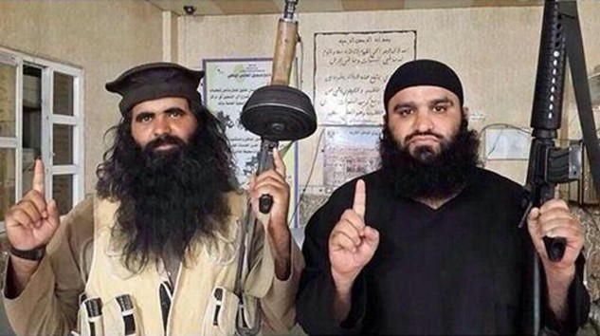 Abu Anas al-Iraqi (trái). Ảnh:Twitter.