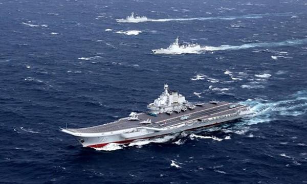 Nhóm tàu sân bay Liêu Ninh của Trung Quốc. Ảnh:Reuters