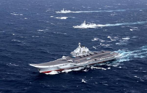 Tàu sân bay Liêu Ninh của Trung Quốc. Ảnh:Reuters