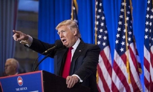 Tổng thống đắc cử Mỹ Donald Trump xuất hiện trong cuộc họp báo vào hôm qua. Ảnh:Washington Post