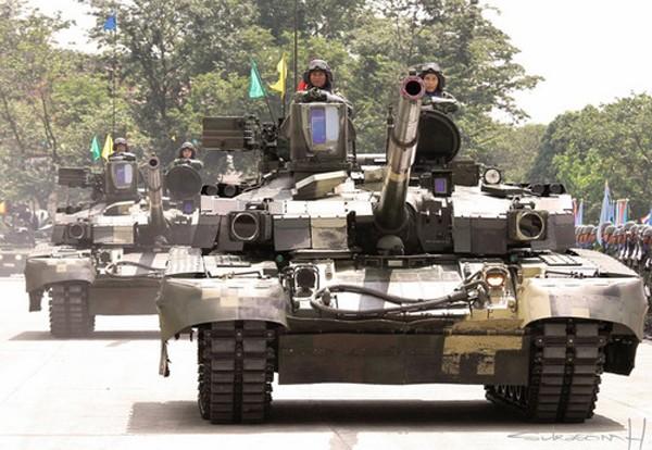 Xe tăng T-84 Oplot-M trong biên chế quân đội Thái Lan. Ảnh:Defence Blog.