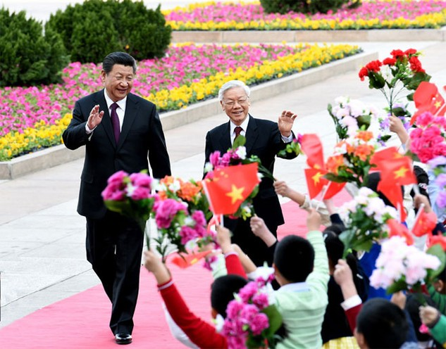 Thương mại Việt Nam - Trung Quốc được đánh giá ngày càng cân bằng hơn. Ảnh: Tân Hoa xã