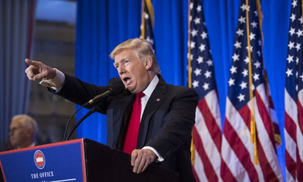 Tổng thống đắc cử Mỹ Donald Trump. Ảnh:AP