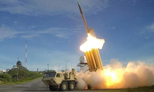 Hệ thống THAAD bắn tên lửa đánh chặn. Ảnh:Bộ Quốc phòng Mỹ
