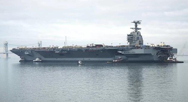 Tàu sân bay USS Gerald Ford của Mỹ (Ảnh: Sputnik)