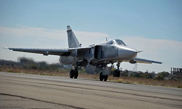Chiến đấu cơ Su-24 của Nga. Ảnh:RT.