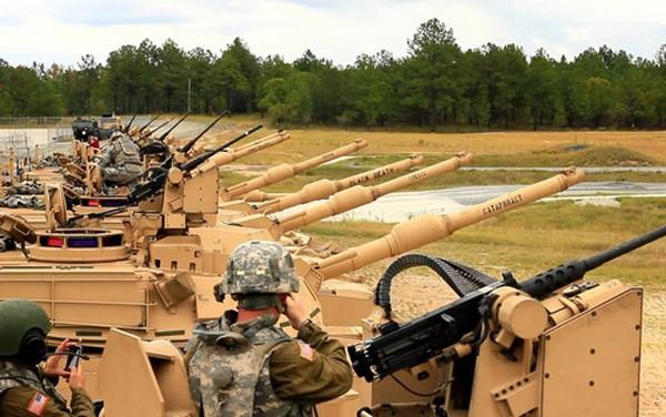 Một đơn vị xe tăng Mỹ gần thủ đô Washington DC. Ảnh:Pinterest.