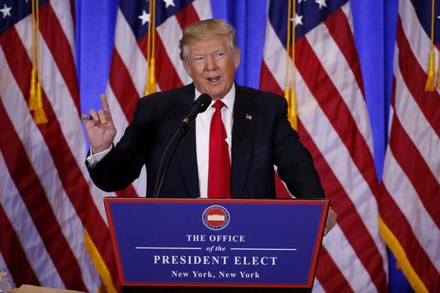 Tổng thống đắc cử Mỹ Donald Trump (Ảnh: Reuters)