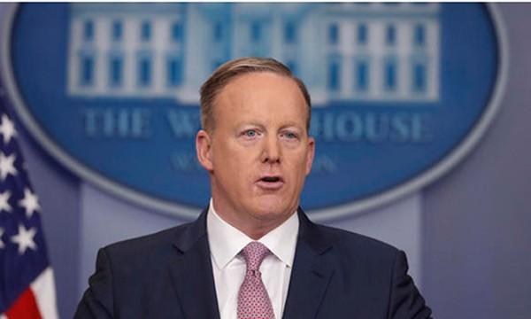Phát ngôn viên Nhà Trắng Sean Spicer. Ảnh:CBS News