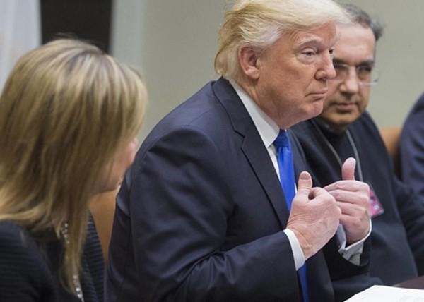 Tổng thống Trump tin rằng có hàng triệu người đã bỏ phiếu bất hợp pháp. Ảnh:AFP