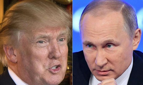 Tổng thống Mỹ Donald Trump (trái) và Tổng thống Nga Vladimir Putin. Ảnh:SCMP
