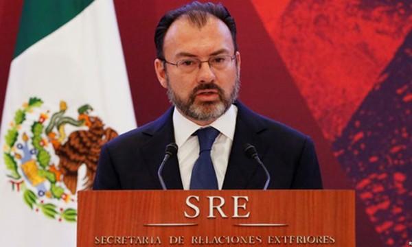 Ngoại trưởng Mexico Luis Videgaray. Ảnh:Reuters