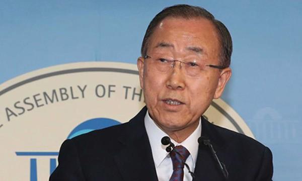 Cựu tổng thư ký LHQ Ban Ki-moon. Ảnh:AP