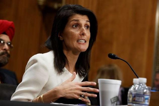 Đại sứ Mỹ tại Liên Hợp Quốc Nikki Haley. (Ảnh: AFP)