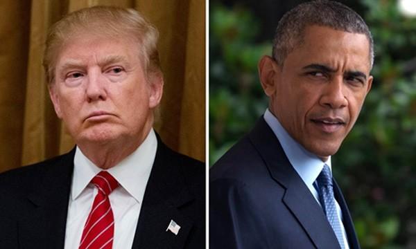 Tổng thống Donald Trump và người tiền nhiệm Barack Obama. Ảnh:NBC News.