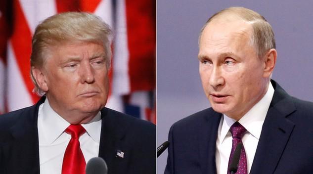 Tổng thống Mỹ Donald Trump (trái) và người đồng cấp Nga Vladimir Putin (Ảnh: Ddinews)