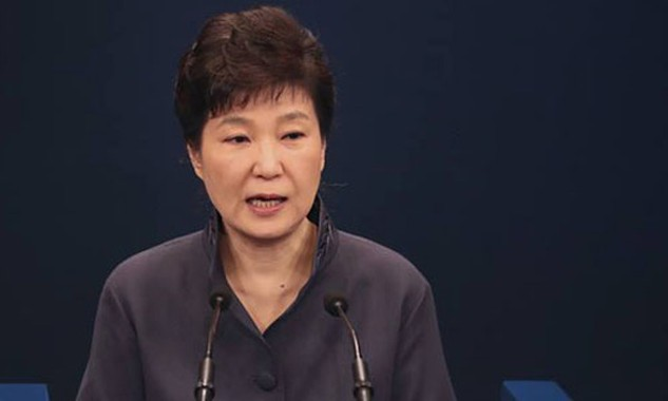 Tổng thống Hàn Quốc Park Geun-hye đang bị đình chỉ quyền lực. Ảnh:AP