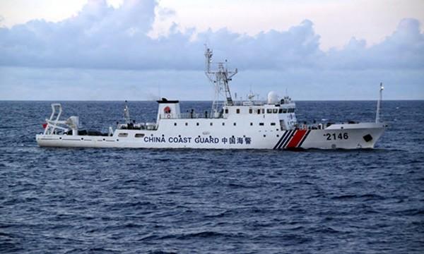 Một tàu hải cảnh Trung Quốc. Ảnh:Japan Times.