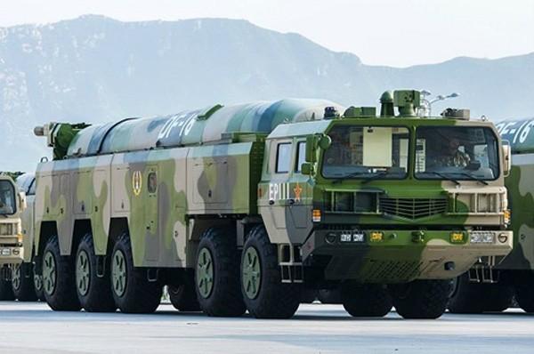 Tên lửa đạn đạo DF-16. Ảnh:Armyrecognition
