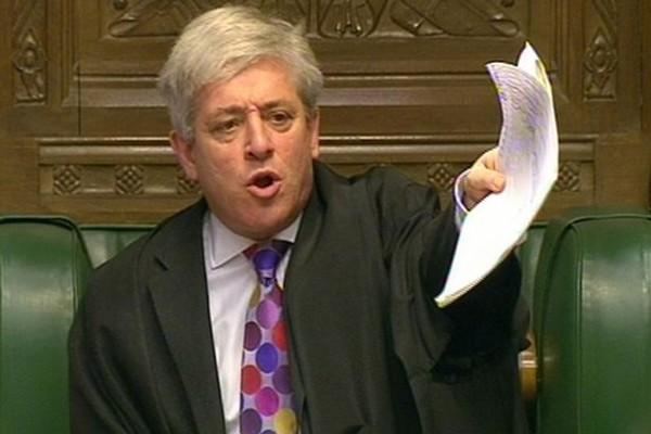 Chủ tịch Hạ viện Anh John Bercow. Ảnh:Metro