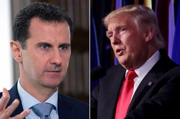 Tổng thống Syria Bashar al-Assad (trái) và người đồng cấp Mỹ Donald Trump (Ảnh: Viral)