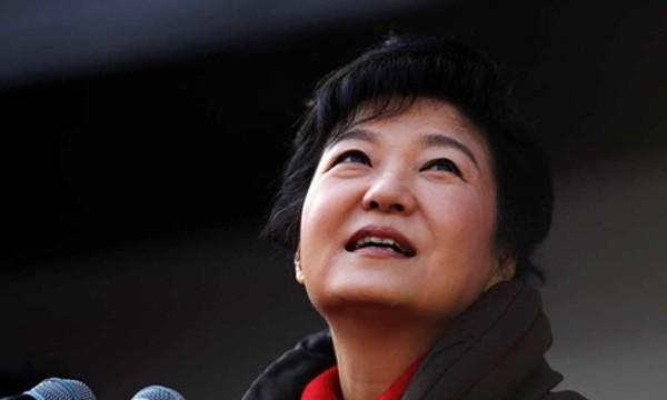 Tổng thống Hàn Quốc Park Geun-hye. Ảnh:AFP