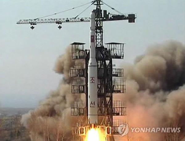 Một vụ phóng tên lửa tầm xa của Triều Tiên. Ảnh:Yonhap