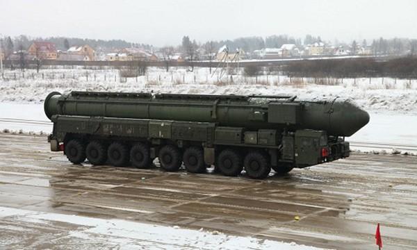 Tên lửa đạn đạo Topol của Nga. Ảnh:Sputnik