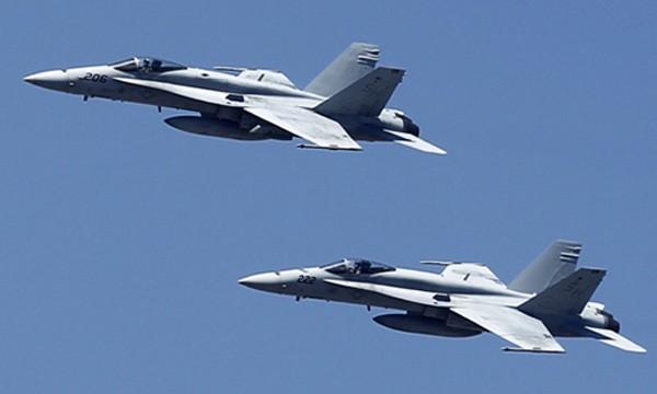 Chiến đấu cơ F-18 của Mỹ. Ảnh:Reuters.