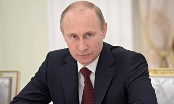 Tổng thống Nga Vladimir Putin. Ảnh:AP.