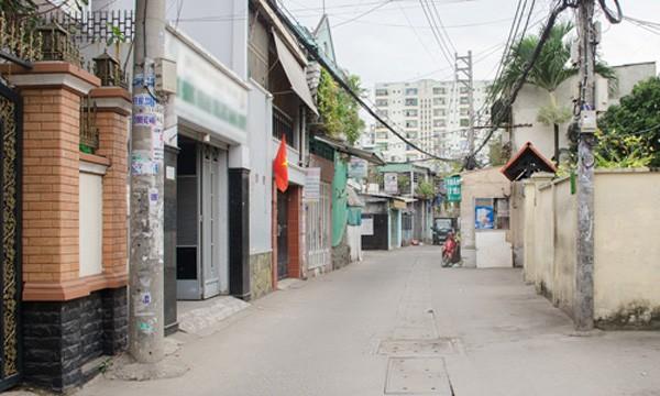 Nhà phố hẻm ôtô tại ngoại thành TP HCM đang tăng giá trong biên độ 8-35% trong vòng một năm qua. Ảnh:Vũ Lê