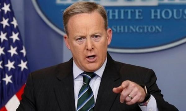 Thư ký báo chí Nhà Trắng Sean Spicer. Ảnh:Reuters