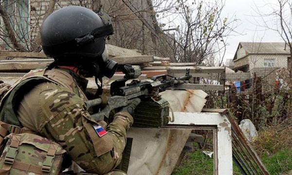 Sĩ quan thuộc lực lượng đặc nhiệm Nga. Ảnh:AP