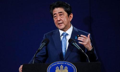 Thủ tướng Nhật Shinzo Abe. Ảnh:Reuters