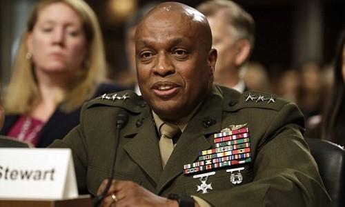 Giám đốc Cơ quan Tình báo Quốc phòng Mỹ, trung tướng Vincent Stewart. Ảnh:AP.