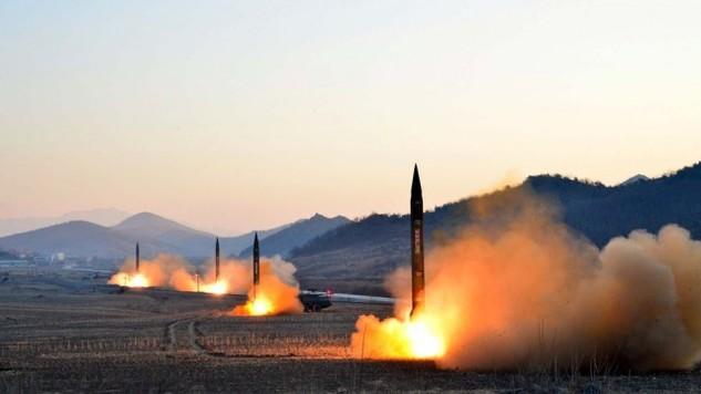 Một vụ phóng tên lửa của Triều Tiên (Ảnh: KCNA)