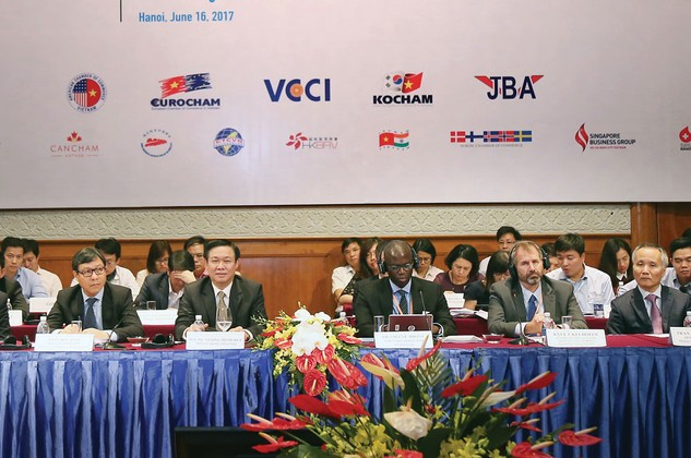 Mục tiêu của Chính phủ Việt Nam là thúc đẩy cả doanh nghiệp FDI và doanh nghiệp trong nước cùng lớn mạnh. Ảnh: Đức Trung
