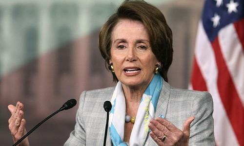 Lãnh đạo phe thiểu số tại Hạ viện Mỹ Nancy Pelosi. Ảnh:AP.