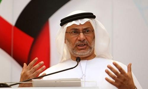 Ngoại trưởng Các tiểu vương quốc Arab Thống nhất Anwar al-Gargash. Ảnh:Al Arabiya.