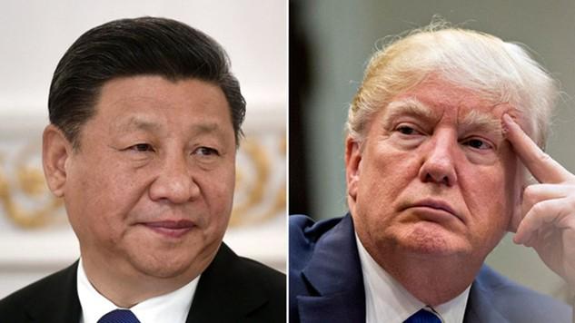 Chủ tịch Trung Quốc Tập Cận Bình và Tổng thống Mỹ Donald Trump (Ảnh: Sky)