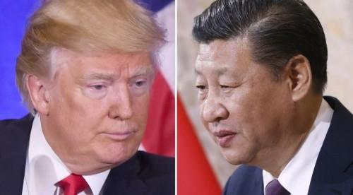 Tổng thống Mỹ Donald Trump và Chủ tịch Trung Quốc Tập Cận Bình. Ảnh:AFP.