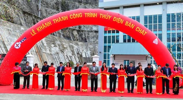 Công trình Thủy điện Bản Chát sau khi vận hành sẽ đóng góp sản lượng lớn cho hệ thống điện quốc gia. Ảnh: Trần Tuyết